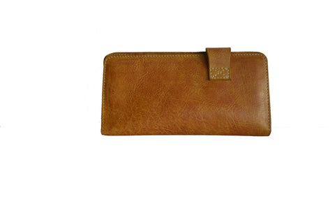 Wesley Walkway Wallet - Cognac Yellow