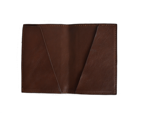 Cerys Walkway Passport Holder - Caramel Red