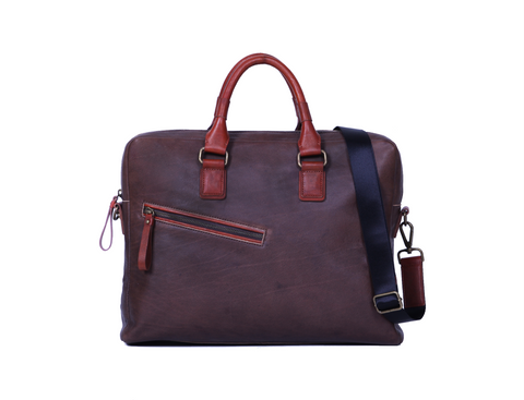 Janoa Walkway Messenger - Dark Brown/Caramel