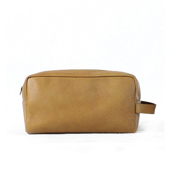 Paolo Toiletries Bag - Cognac Yellow