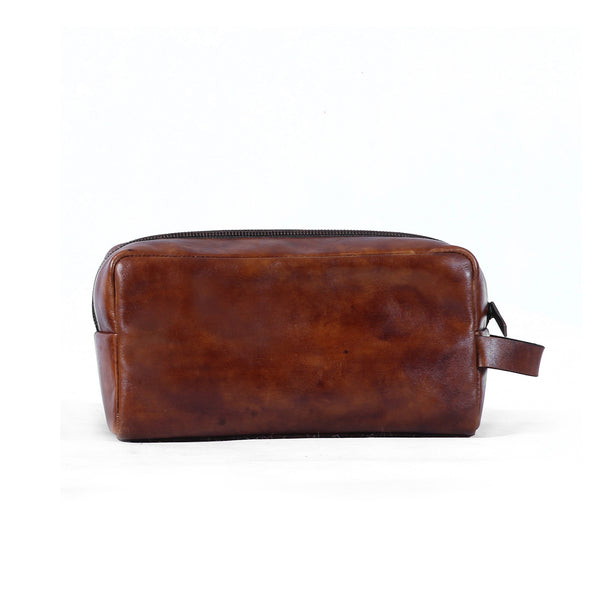 Paolo Toiletries Bag - Caramel Red
