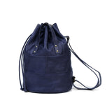 Clement Drawstring Bag - Navy Blue