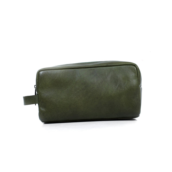 Paolo Toiletries Bag - Olive Green