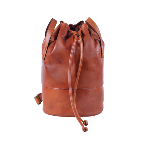 Clement Drawstring Bag - Caramel Red