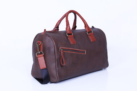 Jiordano Walkway Duffle Bags - Dark Brown/Caramel