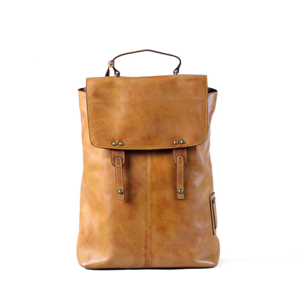 Matteo Backpack - Cognac Yellow