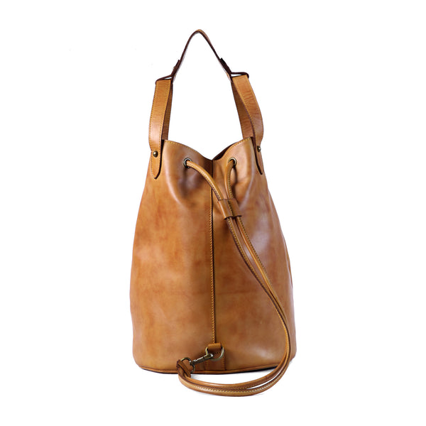 Hartley Drawstring Bag - Cognac