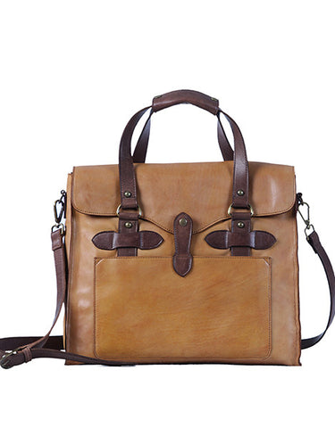 Truman Walkway Messenger - Cognac/Dark Brown