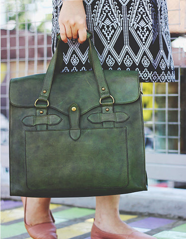 Truman Walkway Messenger - Olive Green