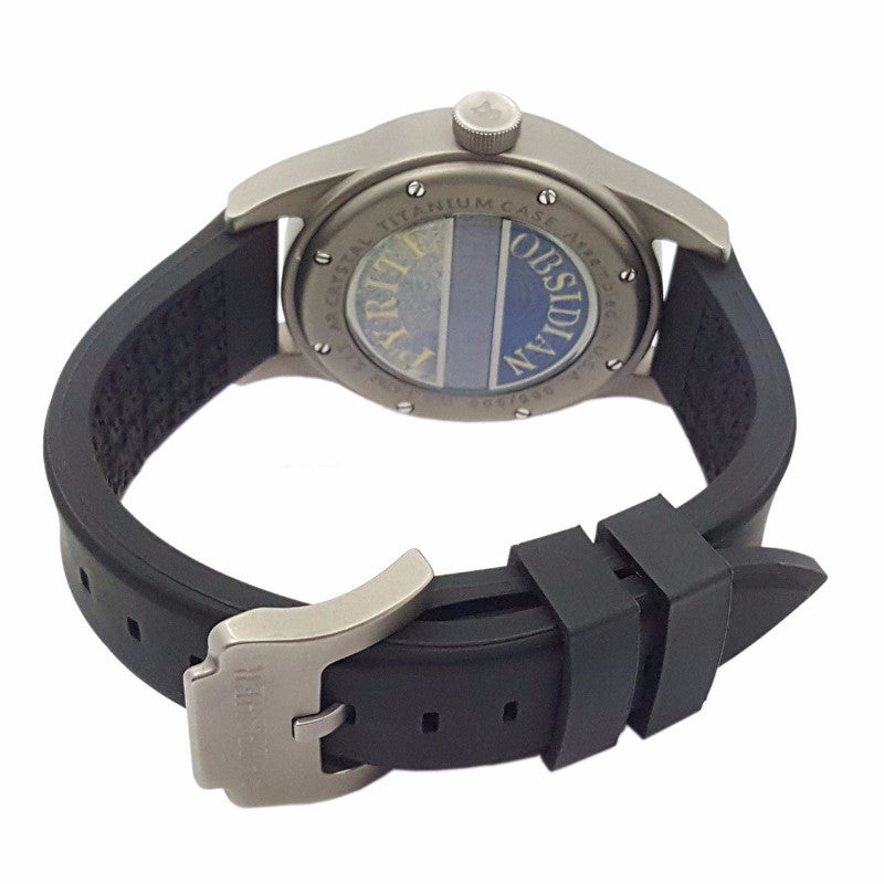 SHERSHER UNISEX WATCH TITANIUM BLACK DIAL Silicon Strap Metaphysical Holistic Healing Watch