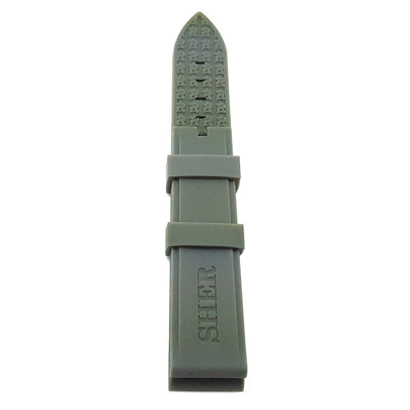 Shersher Silicon Rubber Strap Grey Color