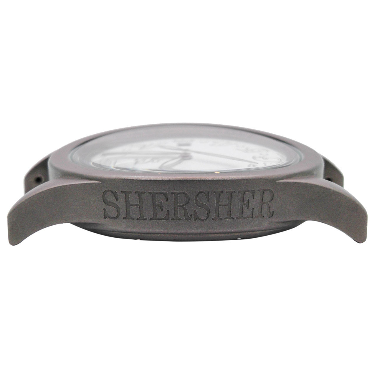 Shersher Unisex Watch Titanium White Dial Silicon Strap Metaphysical Holistic Healing Watch