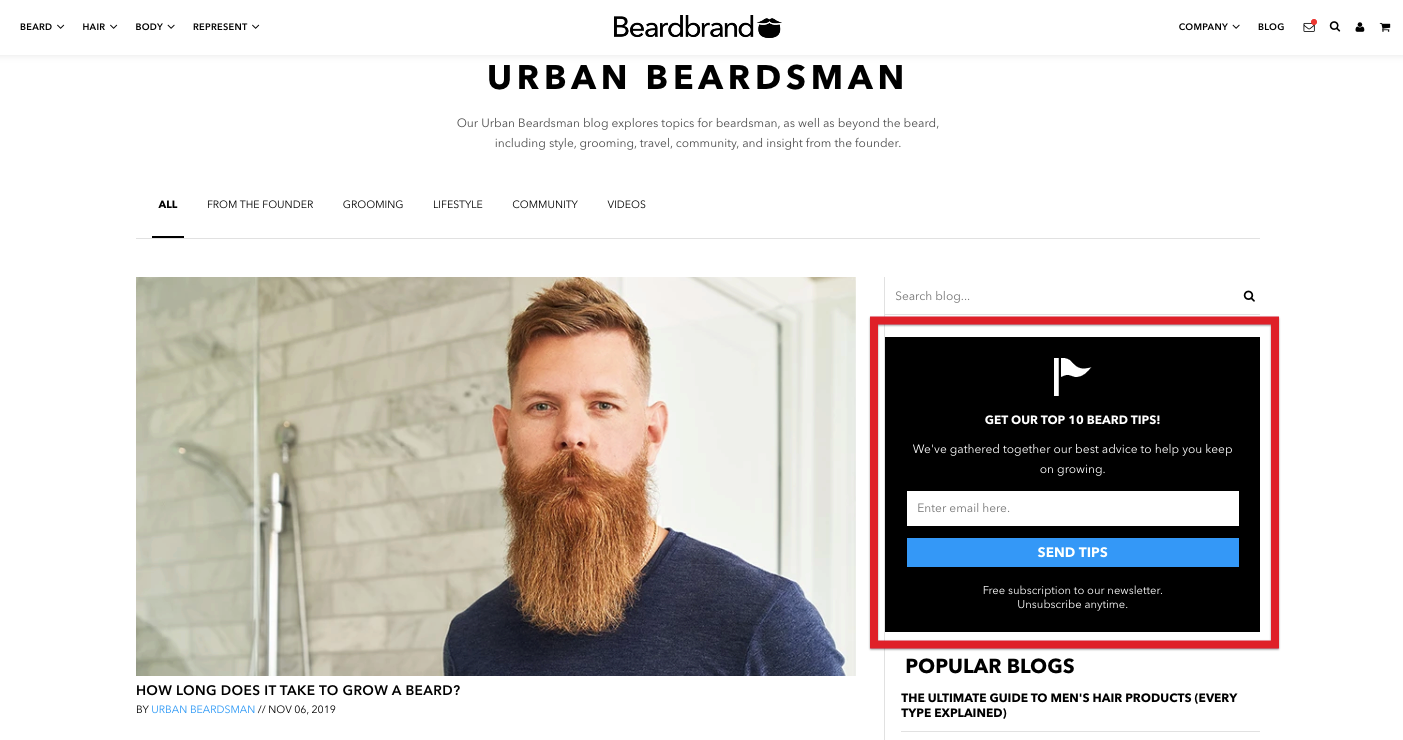 Beardbrand Lead Capture