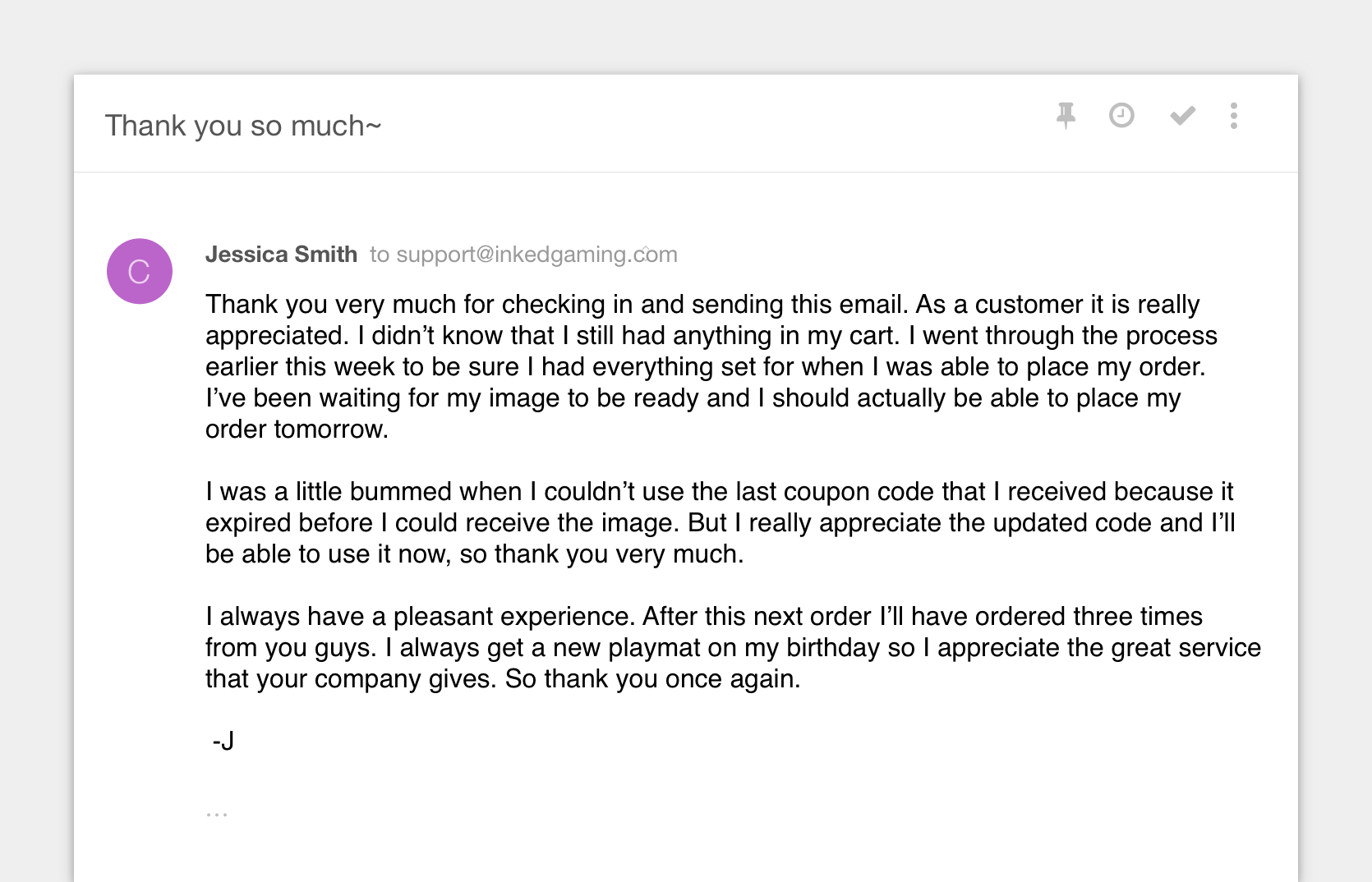 Abandoned Cart Email Response