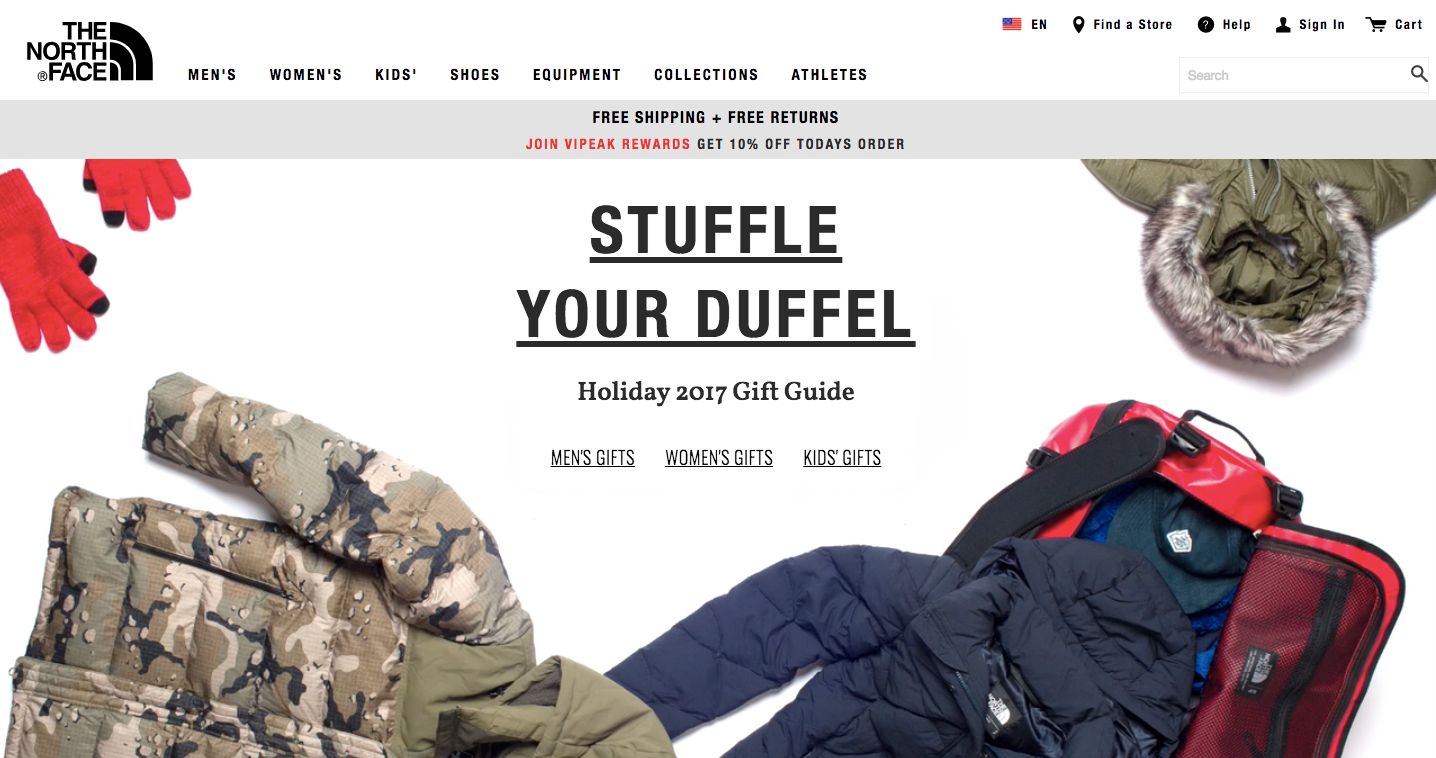 North Face Holiday Gift Guide