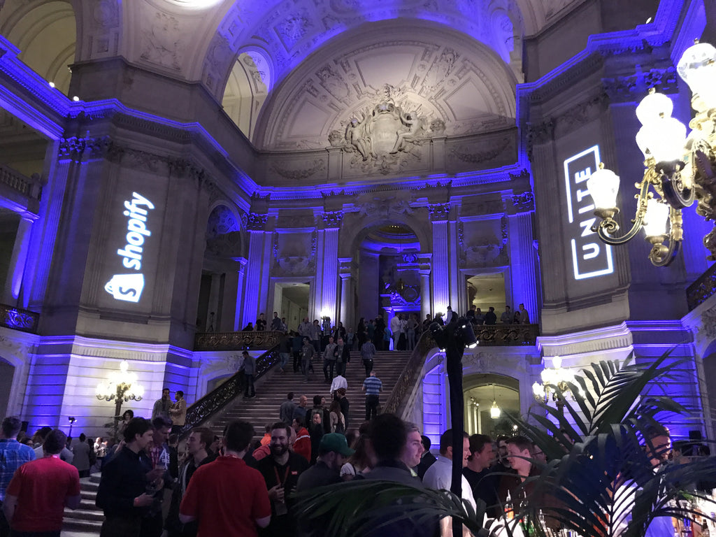 San Francisco City Hall - host location of the Shopify Unite after party