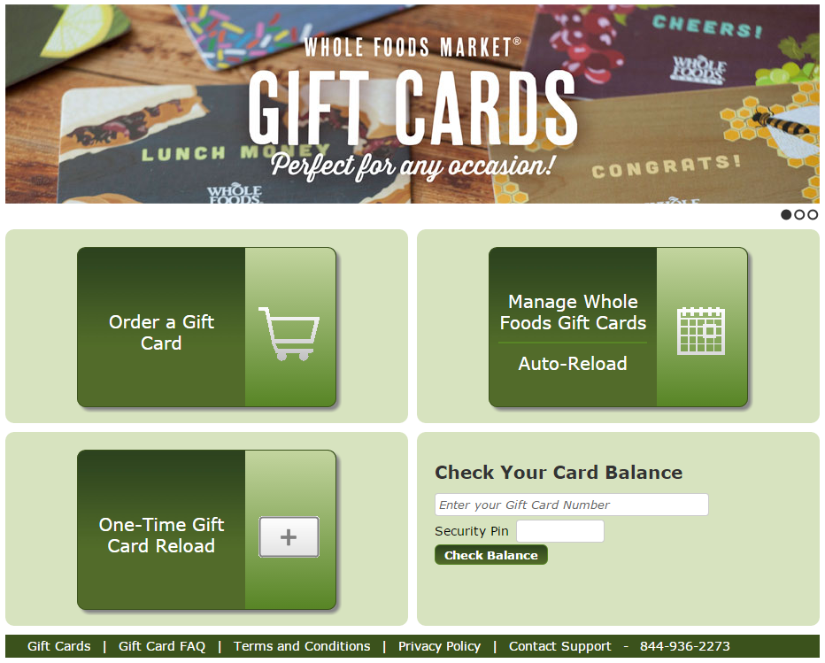 Gift Cards Whole Foods
