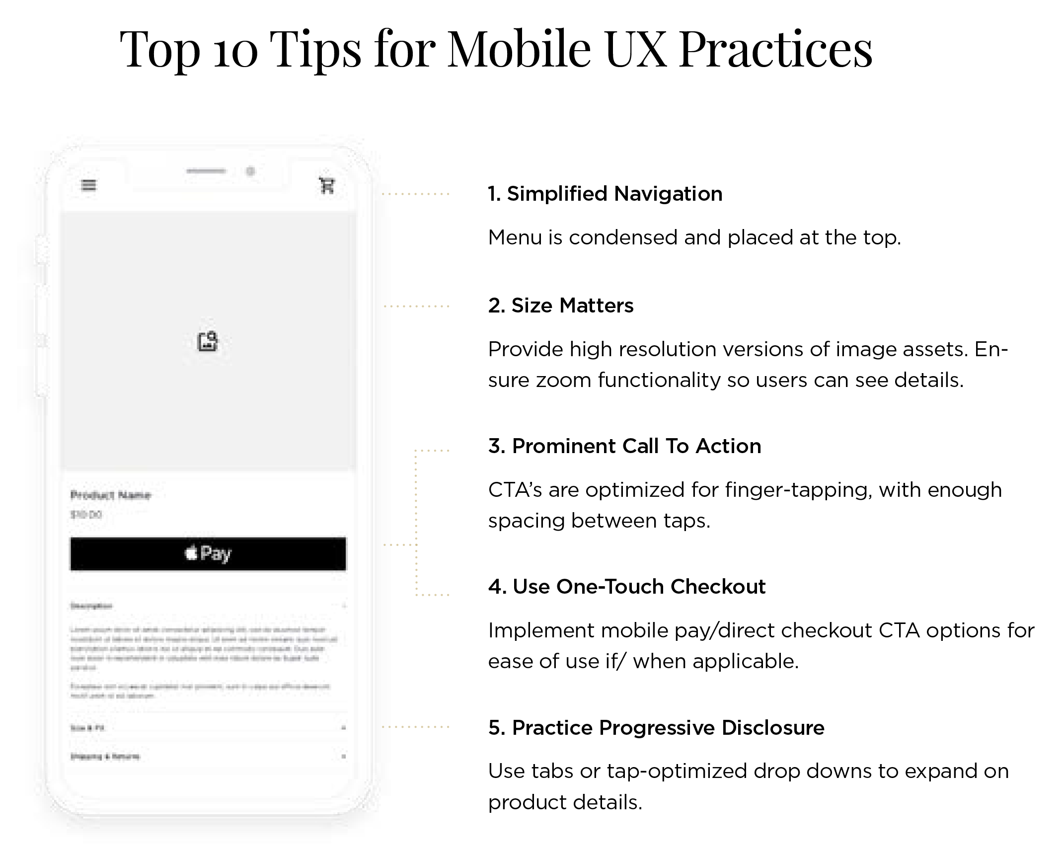 Top tips Mobile UX
