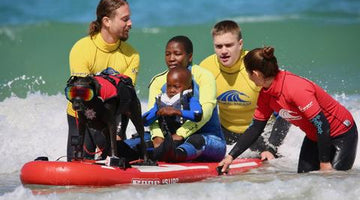 Surf Dog Leia Finds Purpose Surfing with Children's Hospice