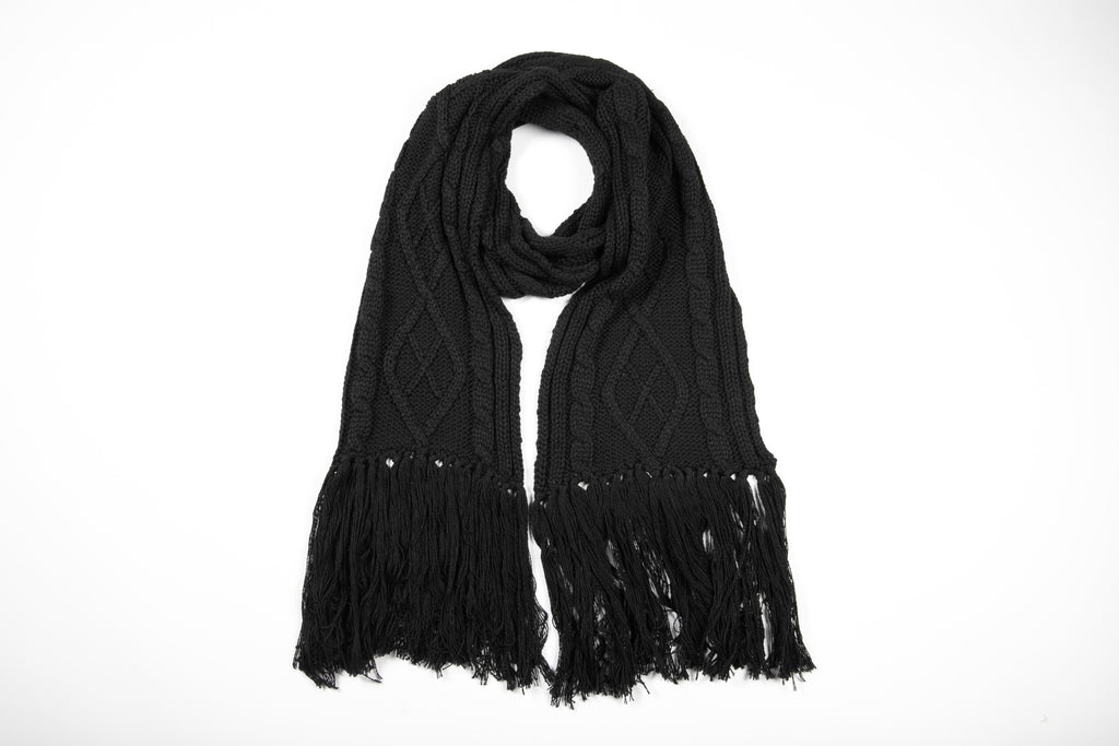 Lunar Cable Knit Scarf - Betty Basics