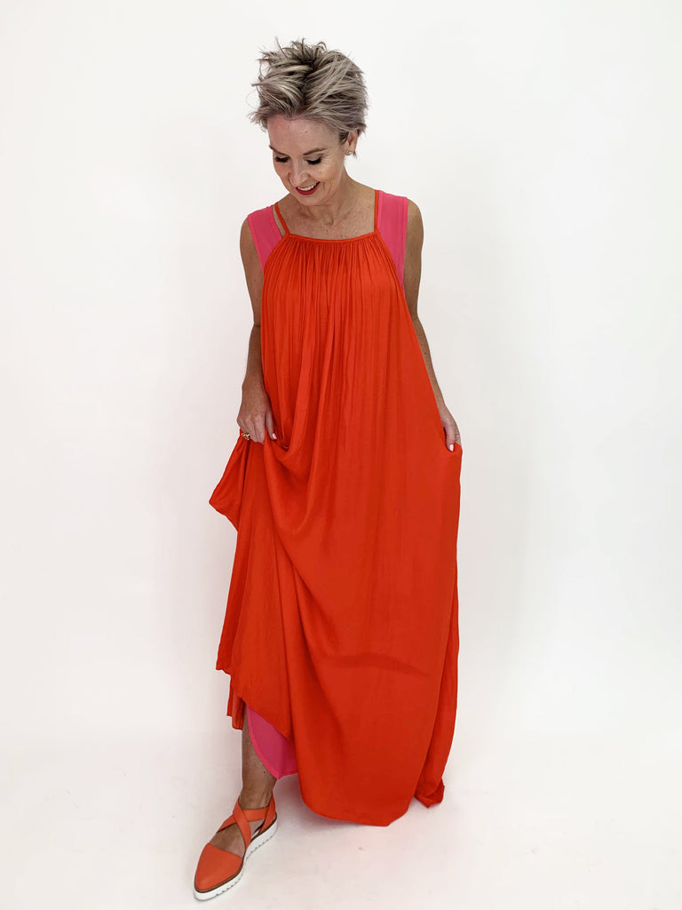 BBQ Dress - Tangerine - C.Reed