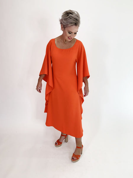 Butterfly Dress - Tangerine - C.Reed