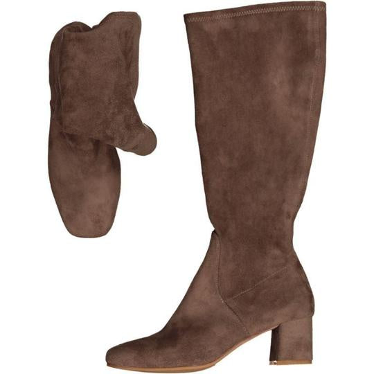 Hot Pop Long - Taupe Microsuede - Minx