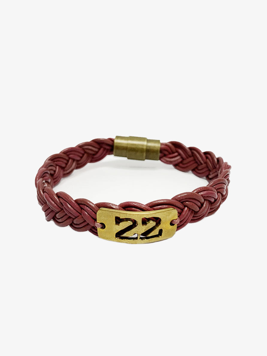 22: Women's Bullet Shell Bracelet [Berry]