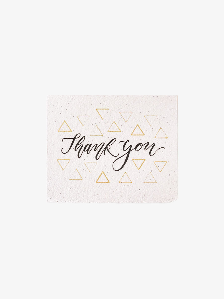 Black & Gold Thank You Card
