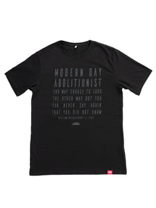 Modern Day Abolitionist Classic Crew Neck Tee [Black]