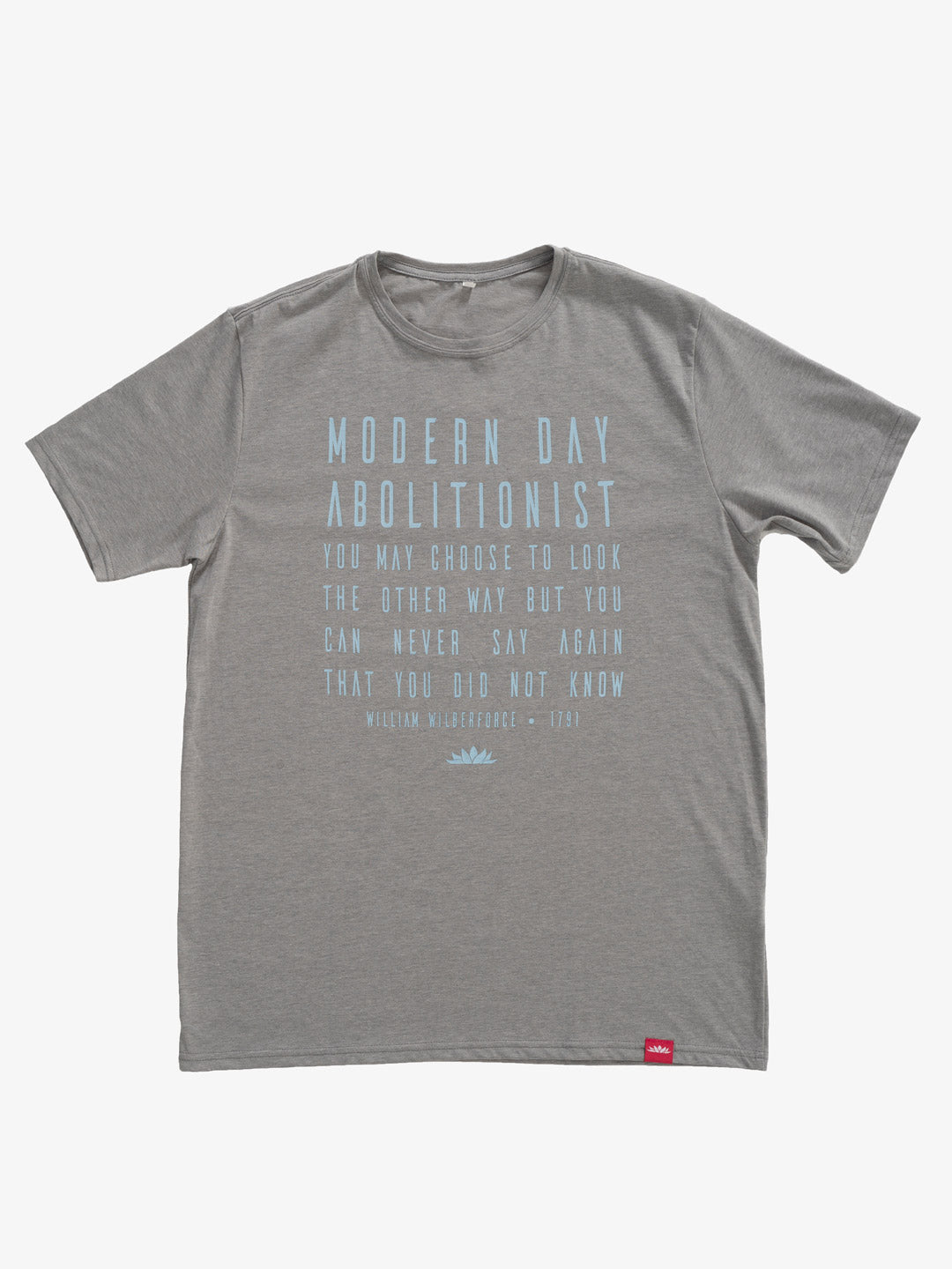 Modern Day Abolitionist Classic Crew Neck Tee [Gray]