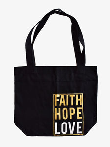 Faith Hope Love Large Tote