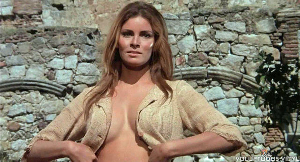 Raquel Welch removing top in 100 Rifles