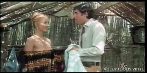 Barbara Bouchet naked in out door shower in The Conjugal Debt