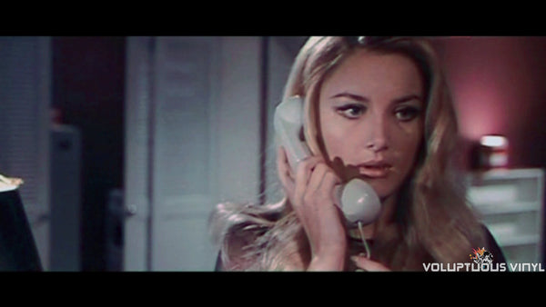 Barbara Bouchet on the telephone