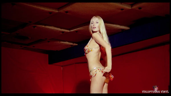 Barbara Bouchet club table dancing in Caliber 9