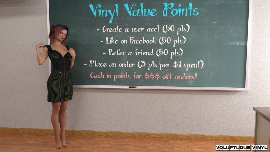 Voluptuous Vinyl Rewards Points, Riley Vee Vinyl Vixen