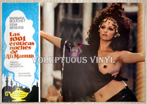 1001 Nights Of Pleasure (1979) - Complete Set Of Spanish Lobby Cards - Barbara Bouchet / Femi Benussi Harem