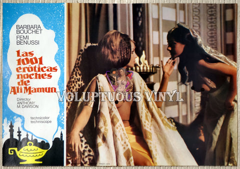 1001 Nights Of Pleasure [Las 1001 eróticas noches de Ali Mamun] (1979) - Spainish Lobby Card - Harem