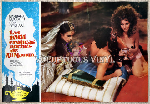 1001 Nights Of Pleasure [Las 1001 eróticas noches de Ali Mamun] (1979) - Spainish Lobby Card - Harem Girls