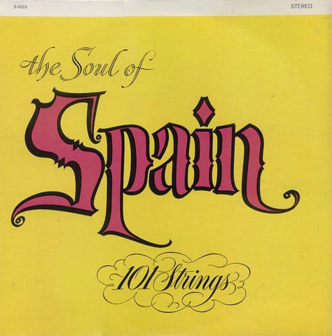 101 Strings ‎– The Soul Of Spain (1958) Cheap Vinyl Record