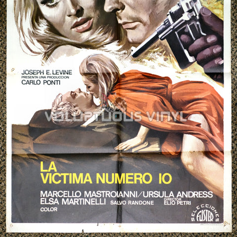 The 10th Victim 1975 Spanish 1 Sheet Movie Poster Bottom Half