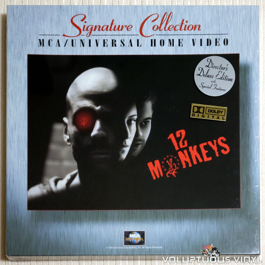 12 Monkeys (1995) Director's Deluxe Edition Box Set - LaserDisc - Front Cover