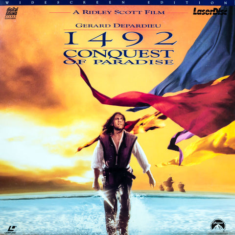 1492: Conquest of Paradise (1992) Ridley Scott LaserDisc