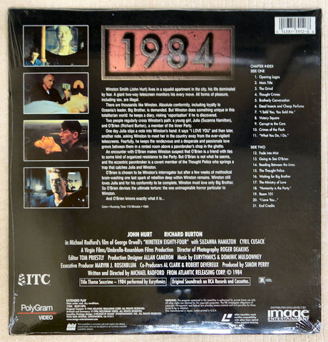 1984 - Laserdisc - Back Cover