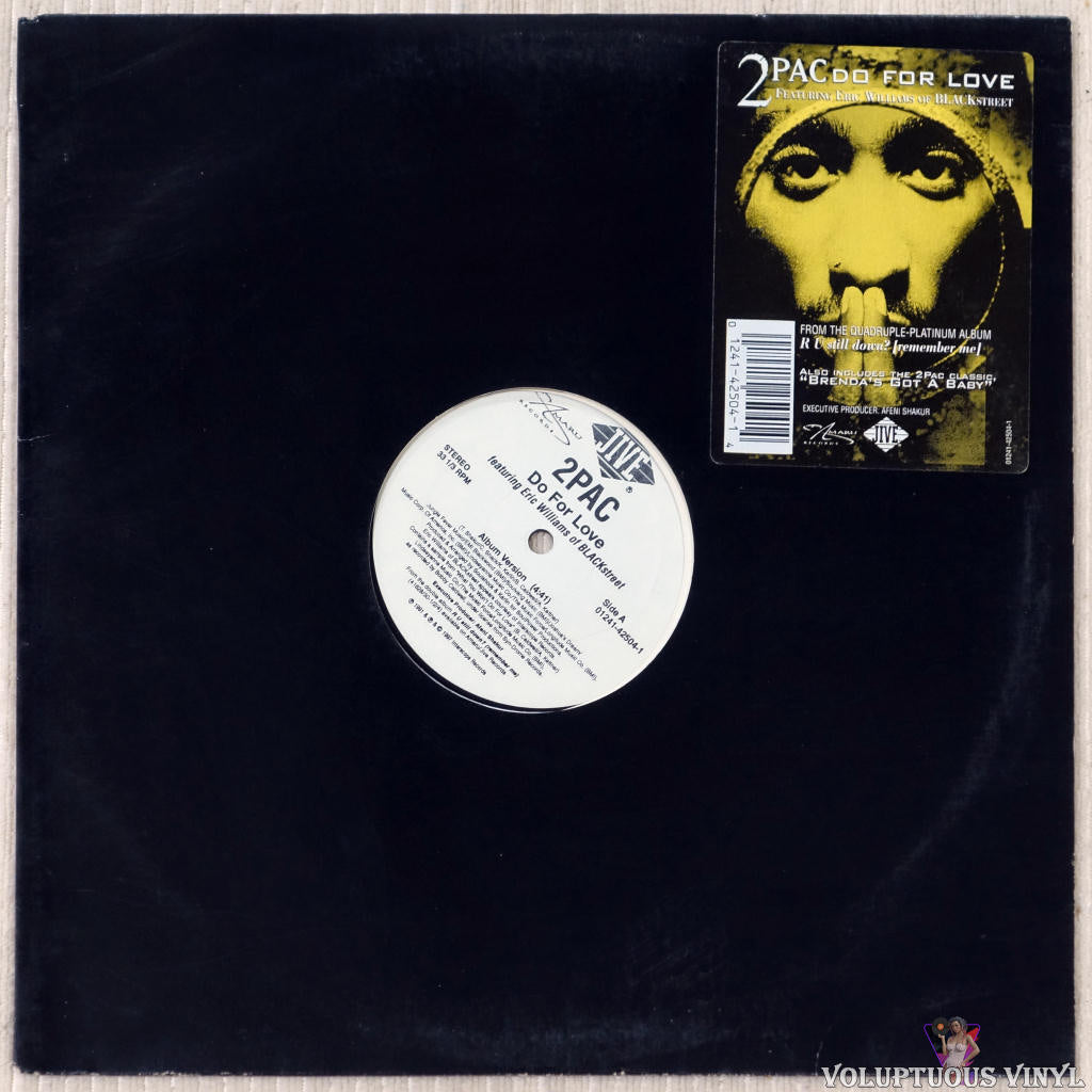 2Pac Featuring Eric Williams Of Blackstreet ‎– Do For Love vinyl record front cover