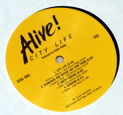 Alive! ‎City Life Label Vinyl Record