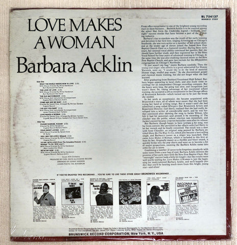 Back album cover for Barbara Acklin Love Makes A Woman