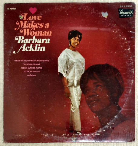 Front album cover for Barbara Acklin Love Makes A Woman