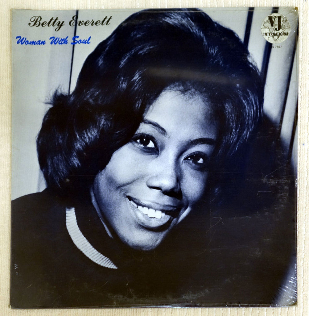 Front album cover to Betty Everett record Woman With Soul